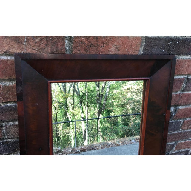 Antique Mahogany Mirror - Image 4 of 7