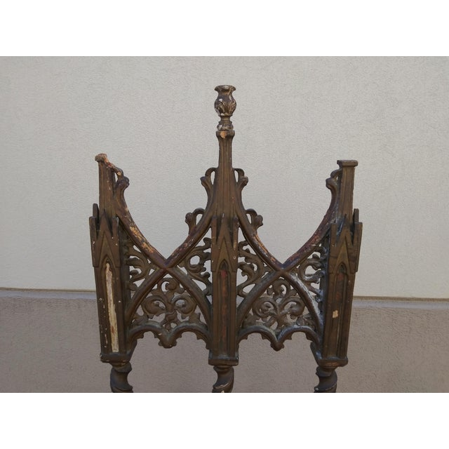 Wood Period Renaissance 16th Century Gothic High Back Chair For Sale - Image 7 of 12