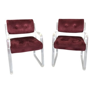 1960s Vintage Lucite Chairs - A Pair