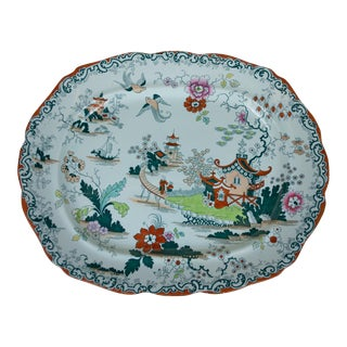 Large Hand-Painted Oriental Platter