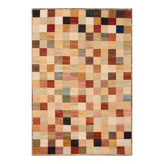 Apadana - Modern Oversize Multicolored Geometric Indian Gabbeh Rug, 10.06x15.06