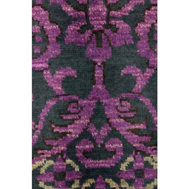"""Contemporary Suzani Hand Knotted Area Rug - 6' X 8'10"""" For Sale - Image 3 of 3"""
