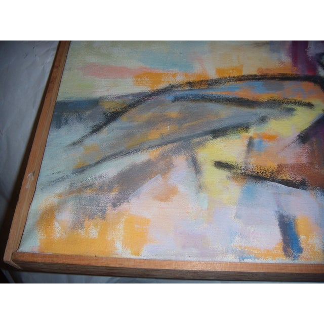 Signed 1961 Jean Young Abstract Painting - Image 4 of 11