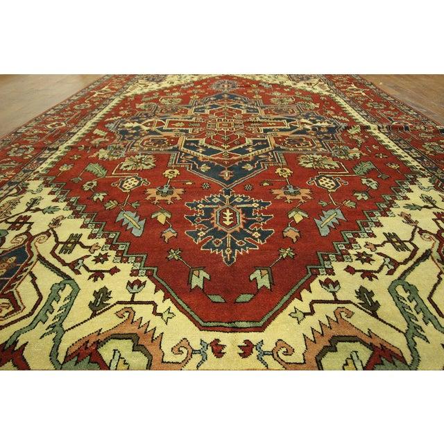 "Red Heriz Serapi Wool Rug - 10' x 14'1"" - Image 7 of 10"