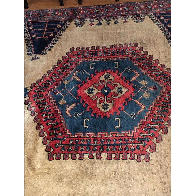 Antique Hand Knotted Persian Rug - 10 X 7 - Image 4 of 11