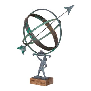 Early 21st Century Antique Style Danish Garden Armillary / Sun Clock For Sale