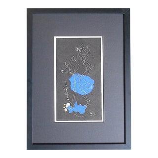 """Vintage Mid Century Ltd. Ed. Lithograph """"Ajax""""-Georges Braque-Signed-Derriere Le Miroir-1964 For Sale"""