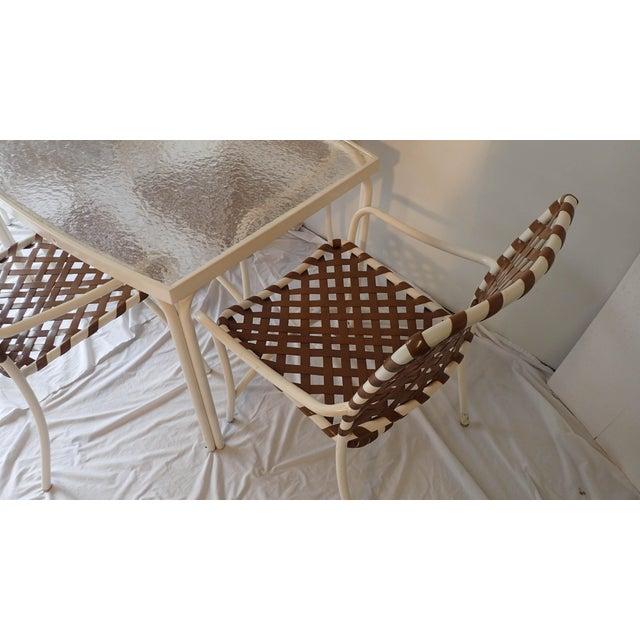 Tropitone Brown & White Outdoor Patio Set - Set of 5 - Image 7 of 11