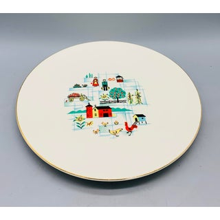 1950's Vintage Sunnybrook Dinner Plates From Edwin Knowles - a Set of 7 Preview