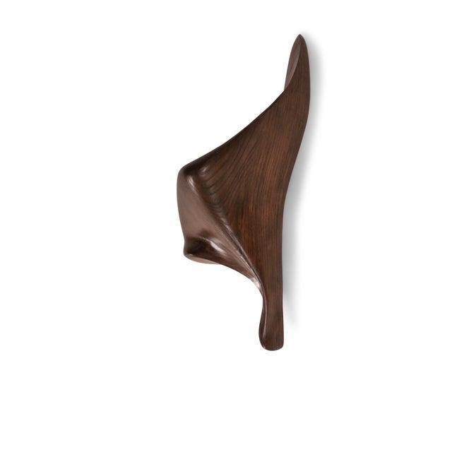 Wood Amorph Lustrous Sconces, Graphite Walnut Finish For Sale - Image 7 of 9