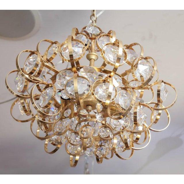 Glamorous Petite vintage palwa chandelier.