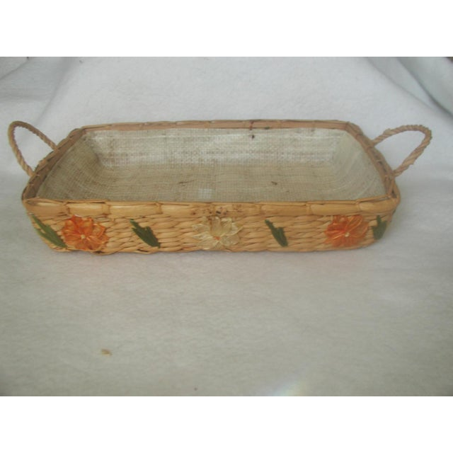 Decorative Rattan Serving Carrier For Sale - Image 6 of 6