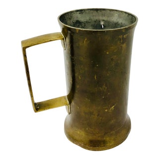 Antique Handmade Brass Cup For Sale