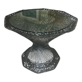 Spun Aluminum Mid-Century Table - Russell Woodard For Sale