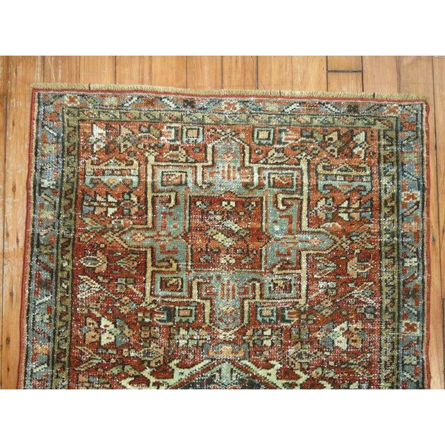 """Antique Persian Heriz Rug - 2'1"""" x 3'9"""" - Image 5 of 5"""