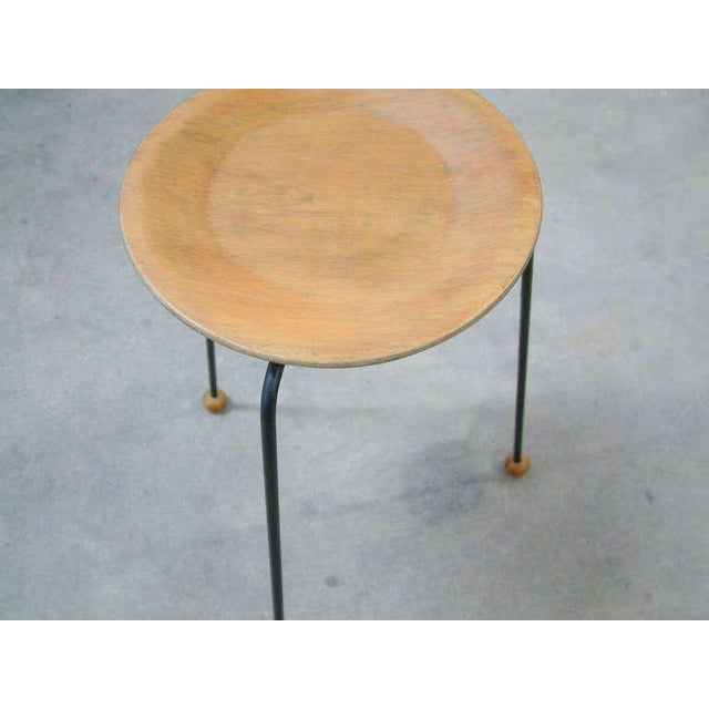 Tony Paul Tempo Group #800 Birch & Enameled Steel Stacking Tables - A Pair For Sale - Image 10 of 11