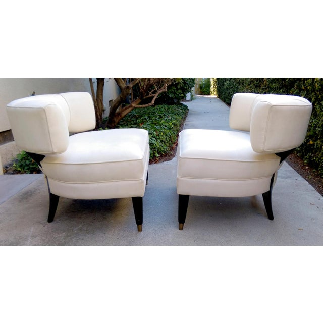 Modern Contemporary Slipper Lounge Chairs - Pair - Image 4 of 10