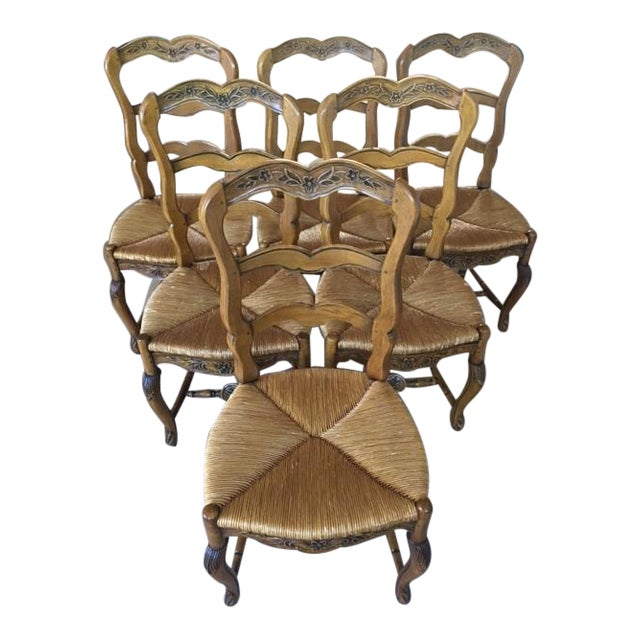 Pierre Deux French Country Dining Chairs - 6 For Sale