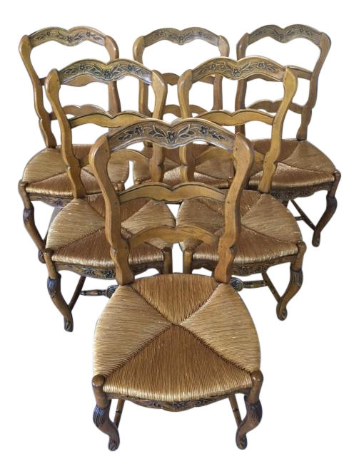 Pierre Deux French Country Dining Chairs 6 Chairish