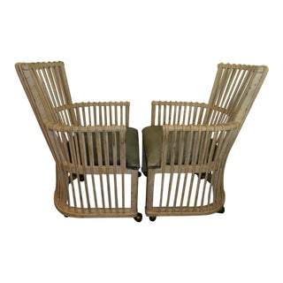 Stanley Bonaire Windsor Club Chairs - A Pair