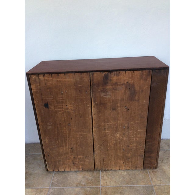1960s Shabby Chic Wooden 10-Drawer Cabinet For Sale - Image 4 of 8