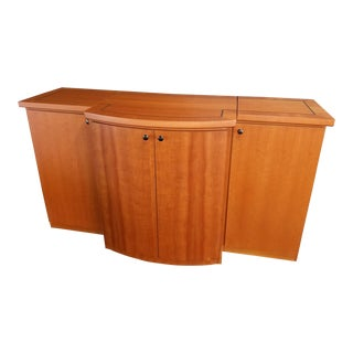 Custom Cherry Inlay Electric Credenza For Sale
