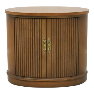 Drexel Pan Tempo Mid Century Oval Accent Table Cabinet For Sale