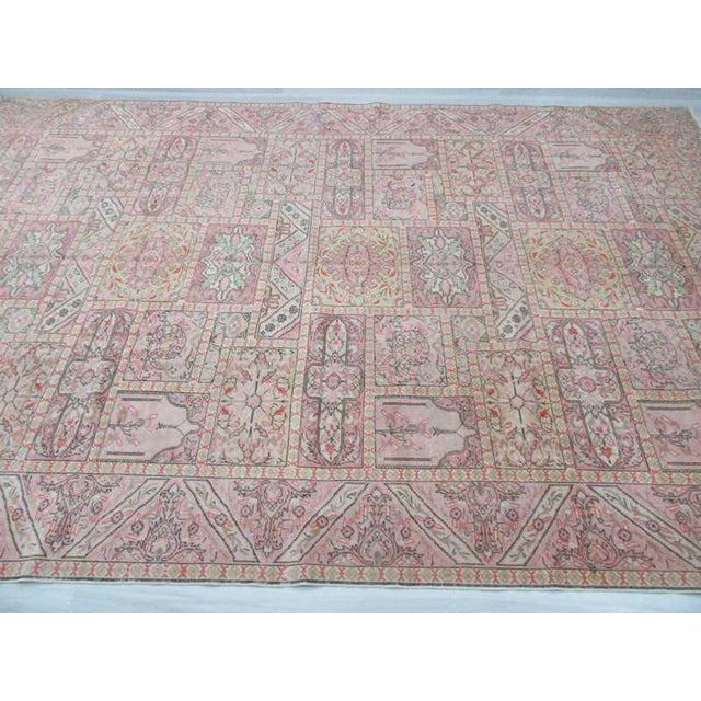 "Islamic Vintage Large Turkish Kayseri Rug - 97"" x 150"" For Sale - Image 3 of 5"