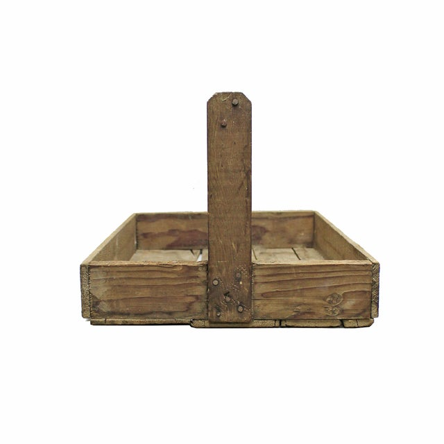 Rustic Wood Handled Pannier - Image 2 of 4