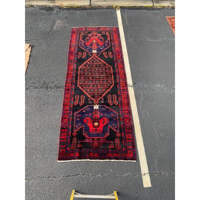 1960s Vintage Persian Bijar Runner Rug - 4′3″ × 11′4″ For Sale - Image 13 of 13