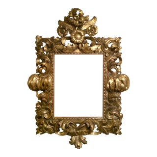 Hand-carved Wooden Gilt Rococo Frame For Sale