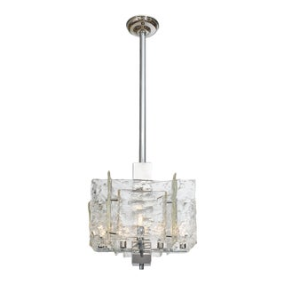 Murano Glass Cubist Chandelier by Mazzega For Sale