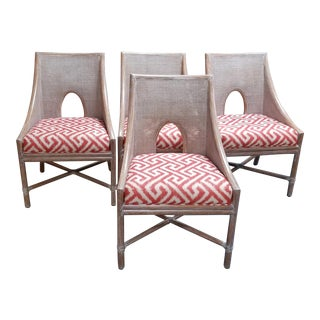Maguire Orange Chairs-Set of 4 For Sale