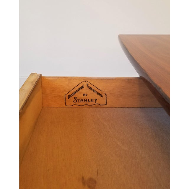 Wood Stanley Teak Surfboard Coffee Table With Drawer For Sale - Image 7 of 8