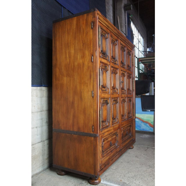 Brutalist Ralph Lauren Old World English Style Oak Sheltering Sky Armoire For Sale - Image 9 of 13