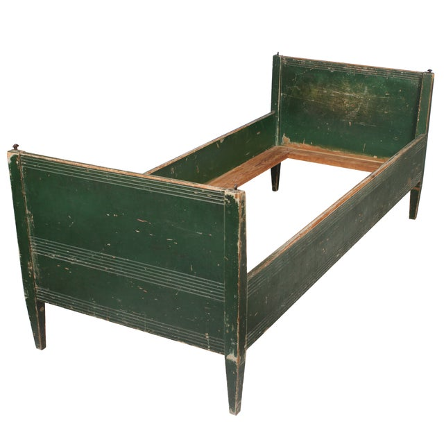 19th-C. Swedish Gustavian-Style Twin Bed - Image 1 of 4