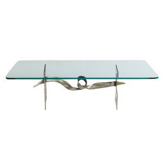 Silas Seandel Tortured Ribbon Steel Cocktail Table For Sale
