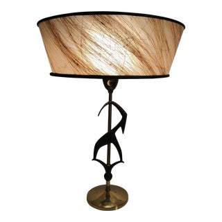1950's Rembrandt Wrought Iron Gazelle Table Lamp