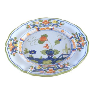 Vintage Italian Hand Painted Ceramic Plate For Sale