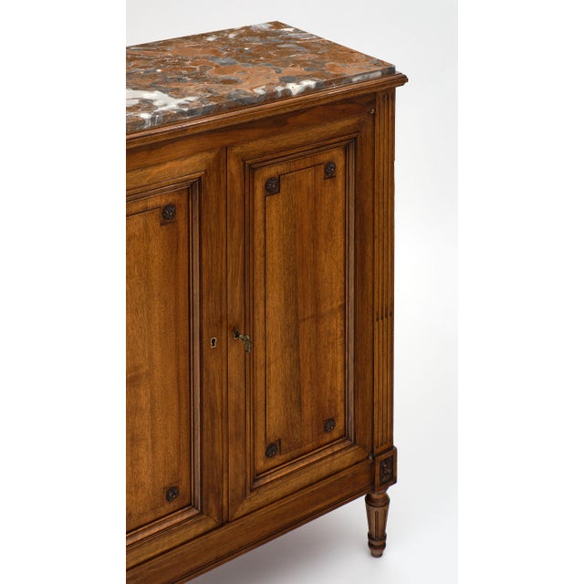 1910s Louis XVI Style 'Argentier' With Marble Top For Sale - Image 5 of 10