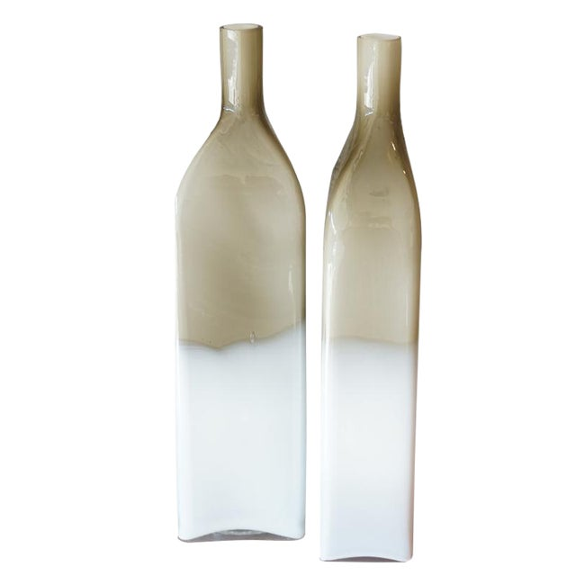 Pair Mid Century Cased Glass Bottles - Image 1 of 7