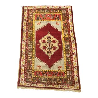 Antique Wool Turkish Rug For Sale