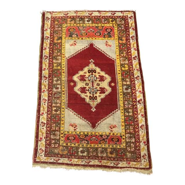 Antique Wool Turkish Rug For Sale