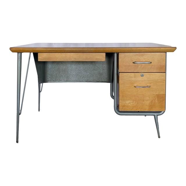 1950s Brunswick & Co Mid Century Writing Desk For Sale