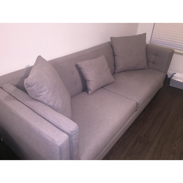 Braylei Gray Track Arm Sofa For Sale - Image 4 of 7