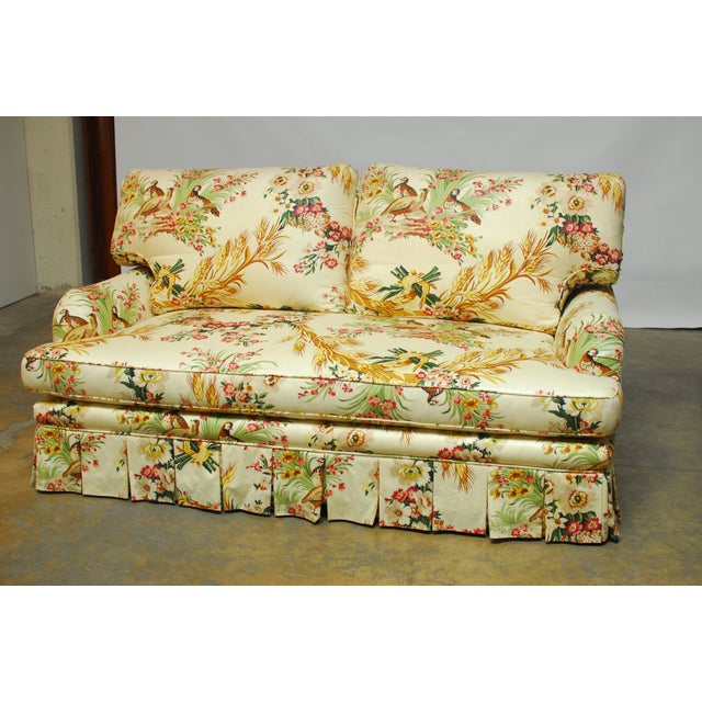 French Brunschwig & Fils French Upholstered Toile Sofa For Sale - Image 3 of 10