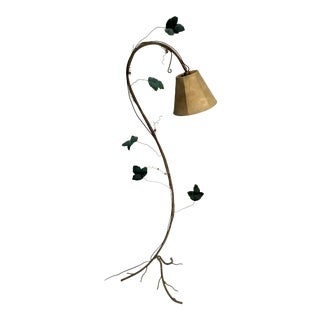 Vintage Organic Form Tole Floor Lamp For Sale