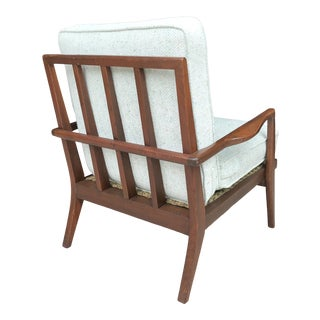 Mel Milow Walnut Rail Back Lounge Chair For Sale