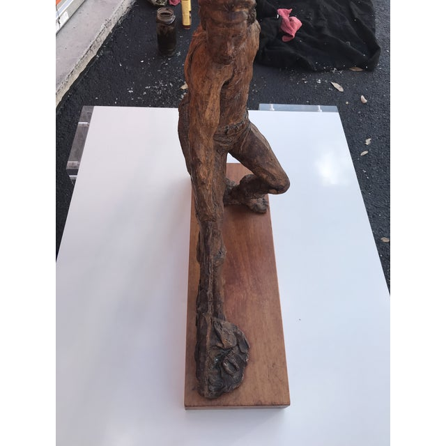 Very beautiful wood base plaster sculpture by Kimro. The piece was made in the 1960s.