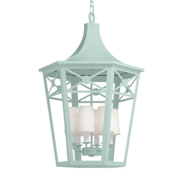 Casa Cosima Bennington Lantern, Palladian Blue For Sale - Image 4 of 4